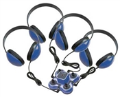 Califone 1114BL-4 Headphone Listening Centre- Blue