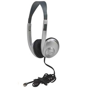 Califone 3060AV-S Lightweight Stereo Headphones with Volum Control - Sliver